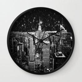 Starry Night in New York Wall Clock