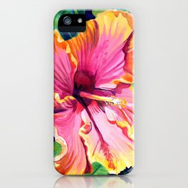 Tropical Bliss Hibiscus iPhone Case