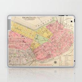 Vintage Map of Boston MA (1876) Laptop & iPad Skin