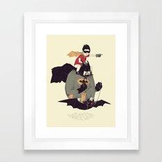 to the batmobile! Framed Art Print