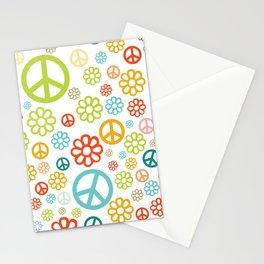 Retro Hippy Pattern Stationery Cards