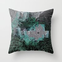 grid Throw Pillows featuring Grid by Leanne Miller