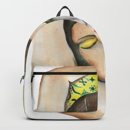 Lady in Yellow Backpack