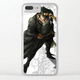 Jotaro Kujo Artwork Clear iPhone Case