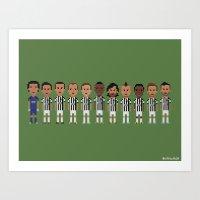 juventus Art Prints featuring Juventus 2013 by 8bit Football