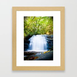 Waterfall on Appalachian Trail Framed Art Print