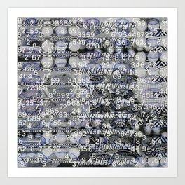 Post Digital Tendencies Emerge (P/D3 Glitch Collage Studies) Art Print