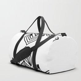 minimal black white mandala Duffle Bag