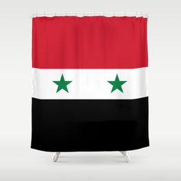 Flag of Syria, High Quality image Shower Curtain