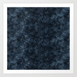 Dark Blue Jeans Denim Texture Art Print