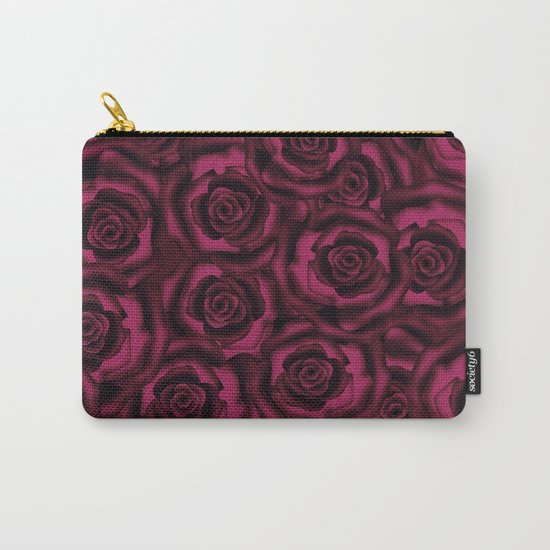 Dark Burgundy roses. Carry-All Pouch