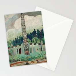 Emily Carr - Tanoo Queen, Charlotte Island - Canada, Canadian Oil Painting - Group of Seven Stationery Cards