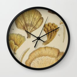 Naturalist Mushrooms Wall Clock