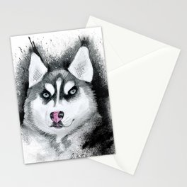Siberian Husky Stationery Cards