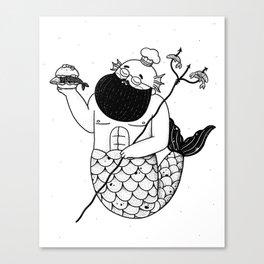 Chef Merman Canvas Print