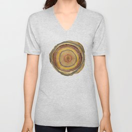 Tree Rings Unisex V-Neck