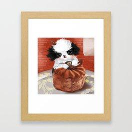 Japanese Chin Waiter Framed Art Print
