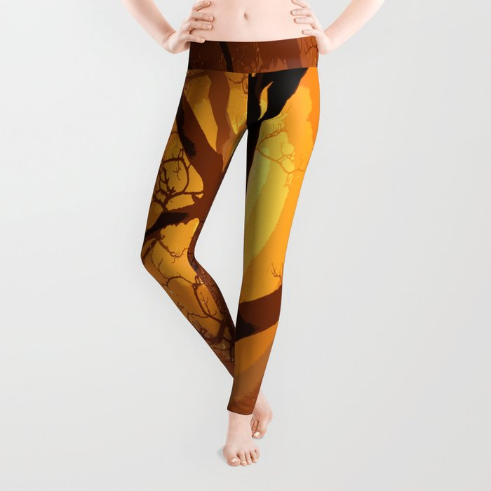 Sunset over the Tree I Leggings