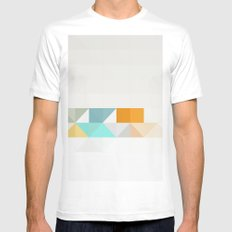 Triangle Pattern Mens Fitted Tee White MEDIUM