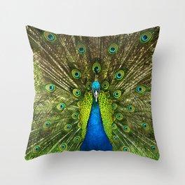 Peafowl Peacock Peahens Throw Pillow