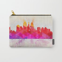 Modern Abstract Cityscape Watercolor Carry-All Pouch