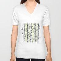 wonderland V-neck T-shirts featuring Wonderland by Barlena