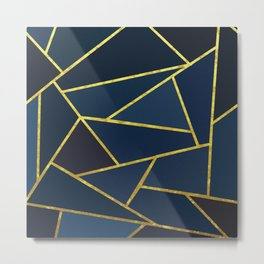The Color of Navy And Gold Metal Print