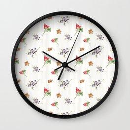 Elegant Christmas - floral spice Wall Clock