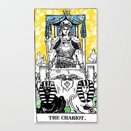Floral Tarot Print - The Chariot Canvas Print