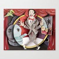 pee wee Canvas Prints featuring Pee-Wee by Erin Maala