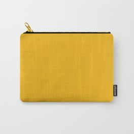 Solid Retro Yellow Carry-All Pouch