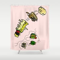 basquiat Shower Curtains featuring Basquiat Netflix by alexSHARKE