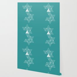 Teal Unrolled D20 Wallpaper