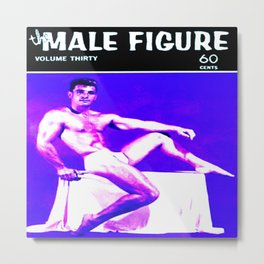 Male Figure 60 Cents Metal Print
