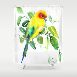 Sun Parakeet Shower Curtain