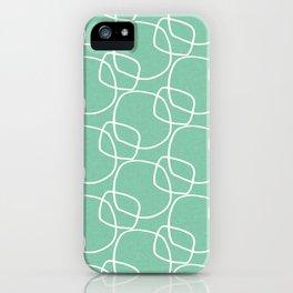 Bubble Pattern Mint #homedecor iPhone Case