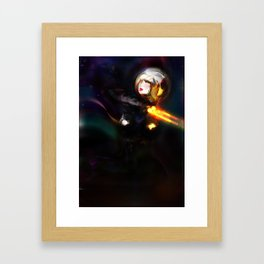 Golden Woman, Figure Drawing (Science Fiction.) Framed Art Print