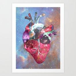 Superstar Heart Art Print