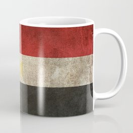 Old and Worn Distressed Vintage Flag of Egypt Coffee Mug
