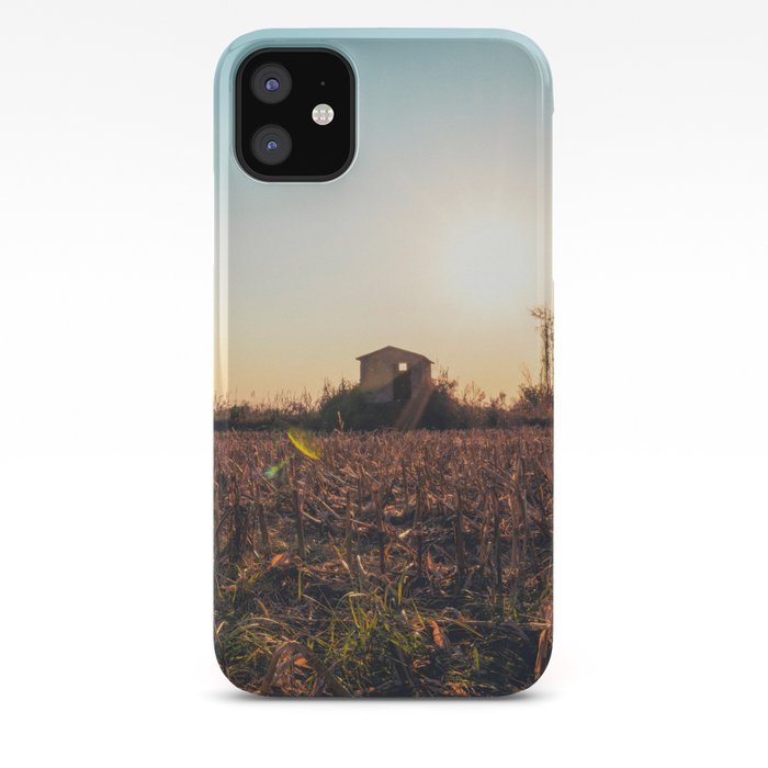 Corn Field At Sunset In The Countryside Of Lomellina Iphone Case By Sergiopazzano