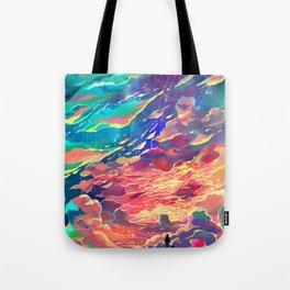 Burning Clouds Tote Bag