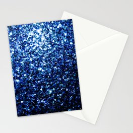 Beautiful Dark Blue glitter sparkles Stationery Cards