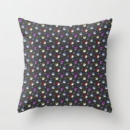 Classic Pokéball Pattern (Dark Version) Throw Pillow