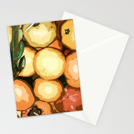 Mandarins and persimmons Stationery Cards