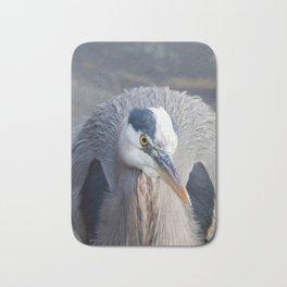 Watchful Heron Bath Mat