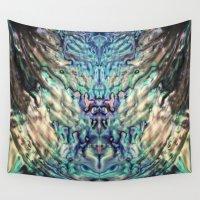 mermaids Wall Tapestries featuring MERMAIDS SECRET by Monika Strigel