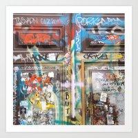 door Art Prints featuring DOOR by  ECOLARTE
