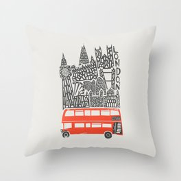 London Cityscape Throw Pillow