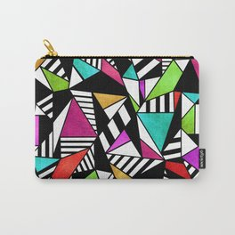Geometric Multicolored Carry-All Pouch