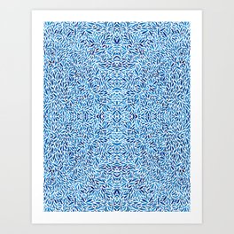 Watercolor Blue Trance Art Print